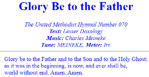Glory Be to the Father (MEINEKE)
