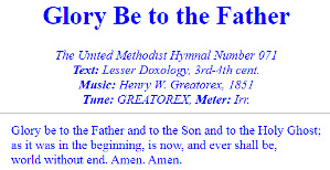 Glory Be to the Father (GREATOREX)